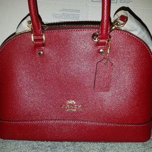 Coach mini Sierra satchel IM/cherry F1821-F27591